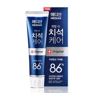 韩国爱茉莉牙膏86%麦迪安Median美白去渍去牙结石去异味120g 蓝色