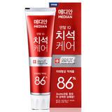 韩国爱茉莉牙膏86%麦迪安Median清洁牙膏牙周护理深层清洁120g 红色