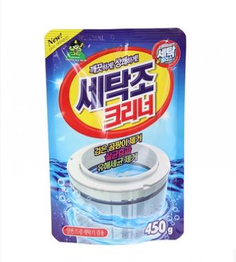 韩国进口山鬼洗衣机槽清洗剂450g 内筒洗衣机清洗剂消毒粉杀菌除垢